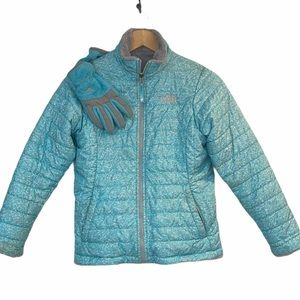 The North Face Reversible Coat and Gloves Girl L